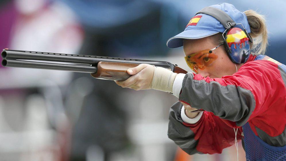 Foto: La tiradora española Fátima Gálvez, en una competición. (EFE)