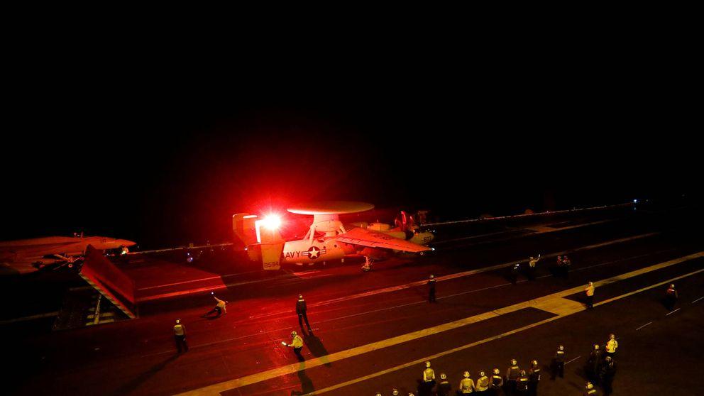 Así operan los cazas de la Armada de EEUU en Siria