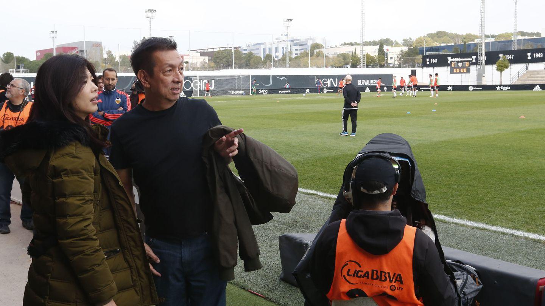 El dueño del Valencia CF, Peter Lim, en una de sus visitas a la ciudad. (VCF)