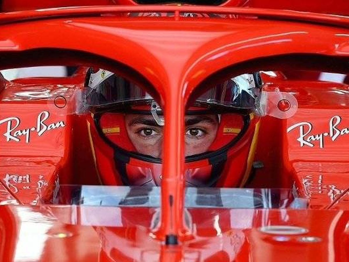 Foto: Carlos Sainz, a bordo del SF71, su primer día en pista con Ferrari.