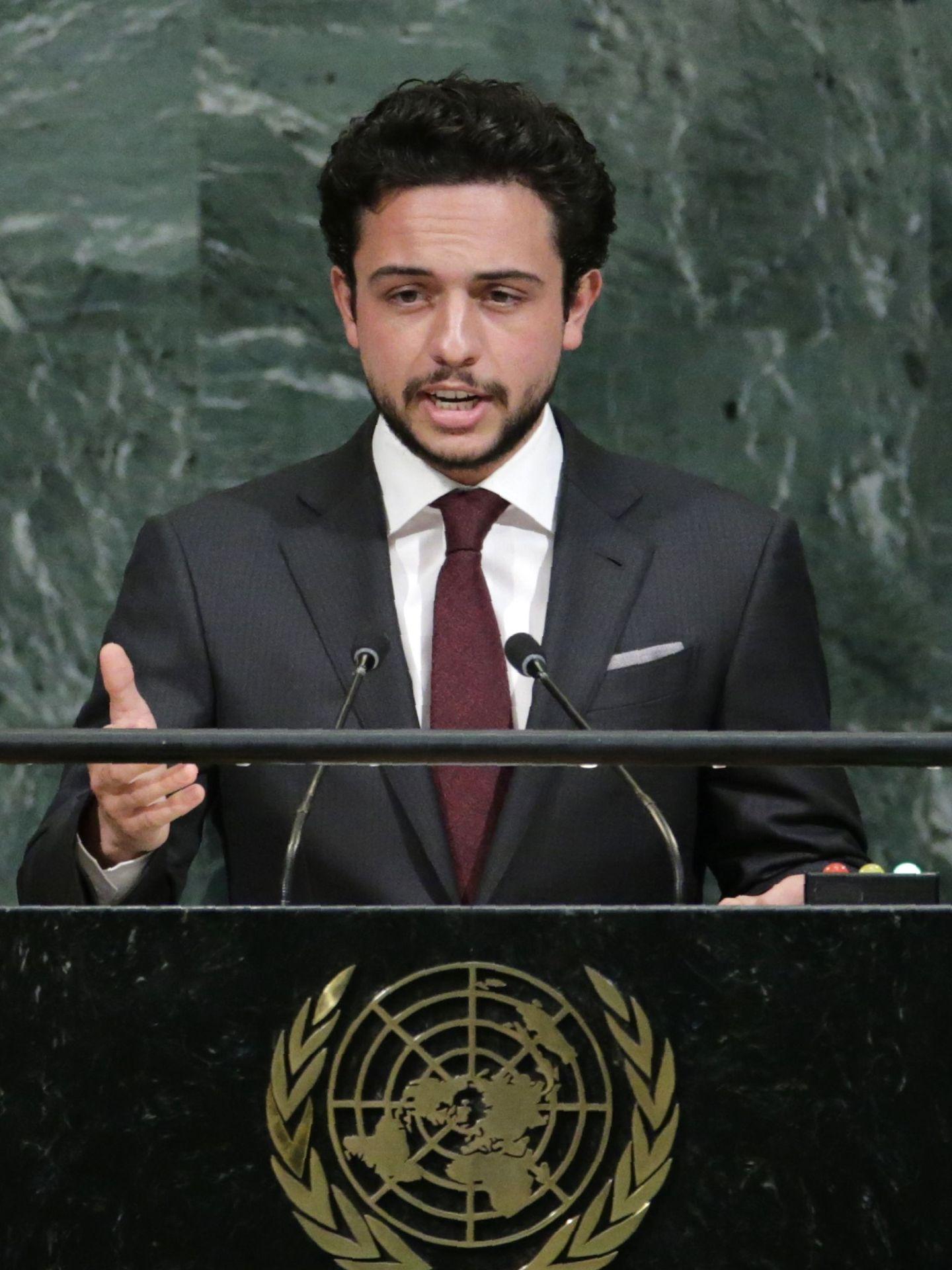 El príncipe Hussein, participando en una asamblea de las Naciones Unidas. (Reuters)