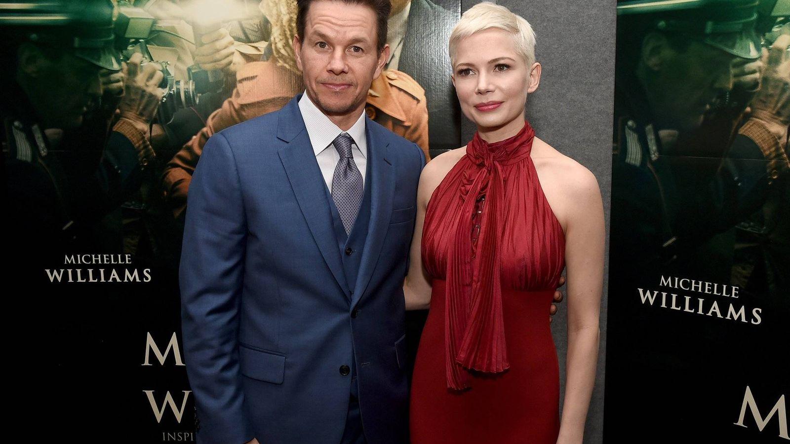 Foto: Michelle Williams y Mark Walhberg en la promoción de la película.
