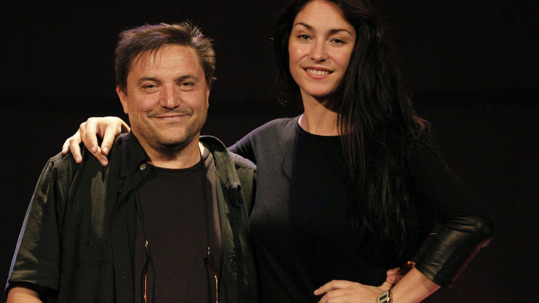 Celia, con el productor Paco Ortega en 2014. (EFE)