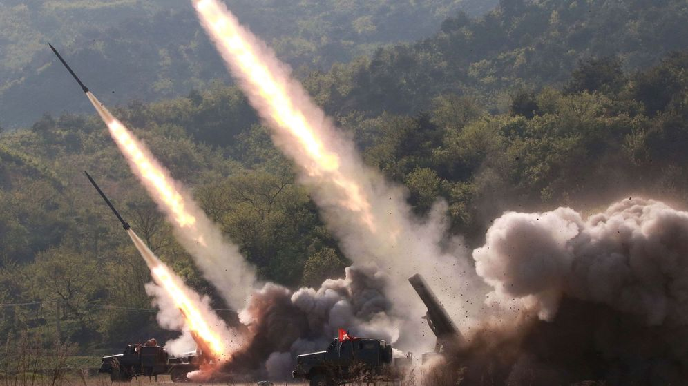 Foto: Lanzamiento de misiles norcoreanos en mayo de 2019. (EFE)