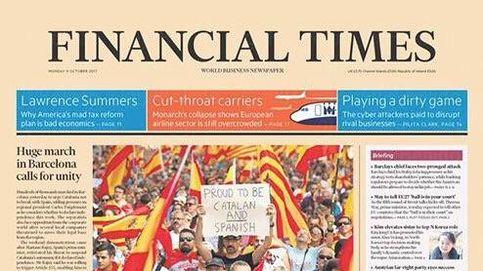 La manifestación en Barcelona por la unidad de España copa las portadas de la prensa