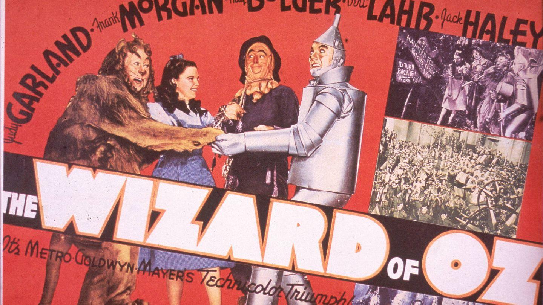 El cartel original de 'El mago de Oz'. (Getty)