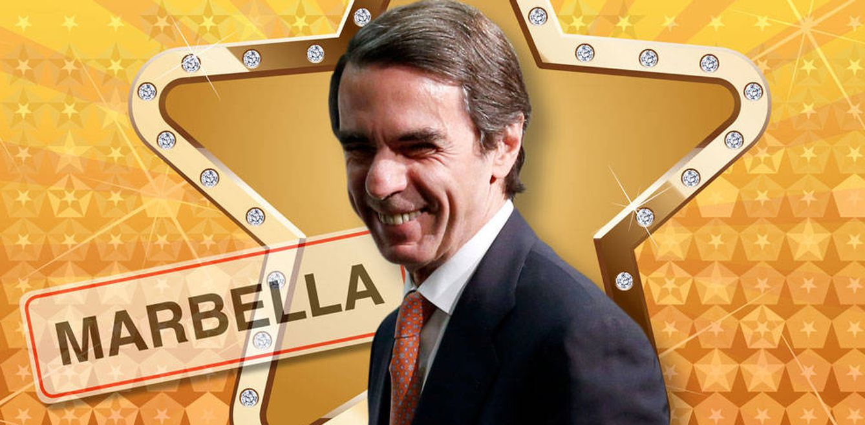 Foto: José María Aznar en un fotomontaje realizado en Vanitatis