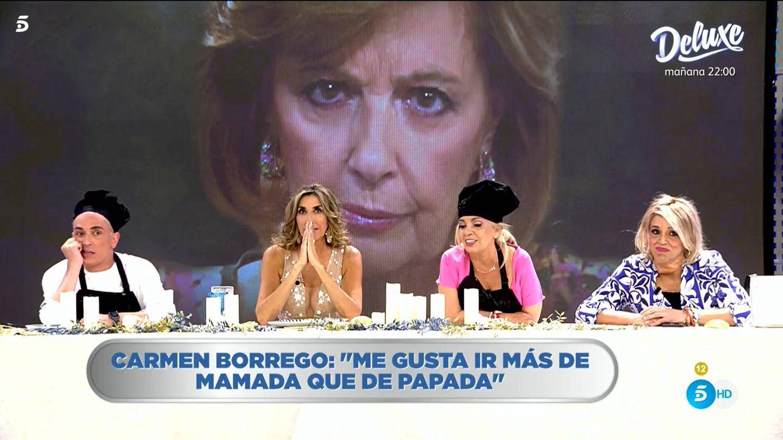 Kiko Hernández y Carmen Borrego, en 'La última cena'. (Mediaset)