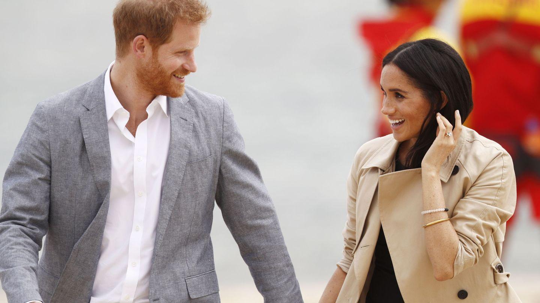 El príncipe Enrique y Meghan, duques de Sussex, en su visita de Australia. (EFE)