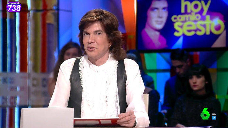 Camilo Sesto, en 'Zapeando'. (La Sexta)
