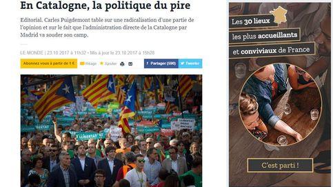 'Le Monde': España vive una tragedia y los independentistas, en una burbuja