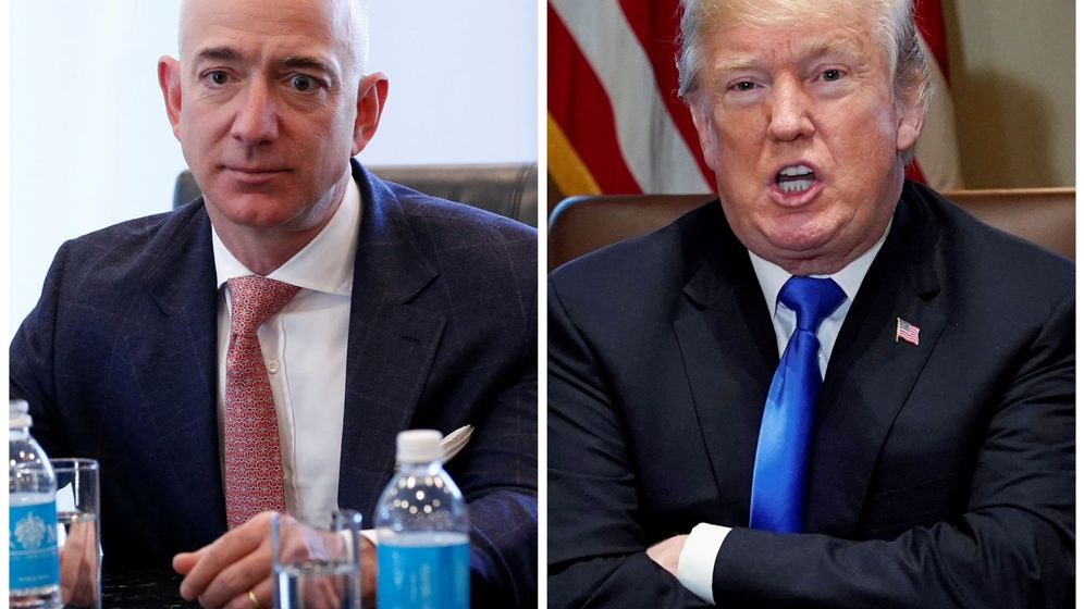Foto: Jeff Bezos, CEO de Amazon, y Donald Trump, presidente de EEUU. (Reuters)