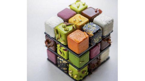 ¿Te imaginas un postre en forma de cubo de Rubik? ¡Existe gracias a Cédric Grolet!