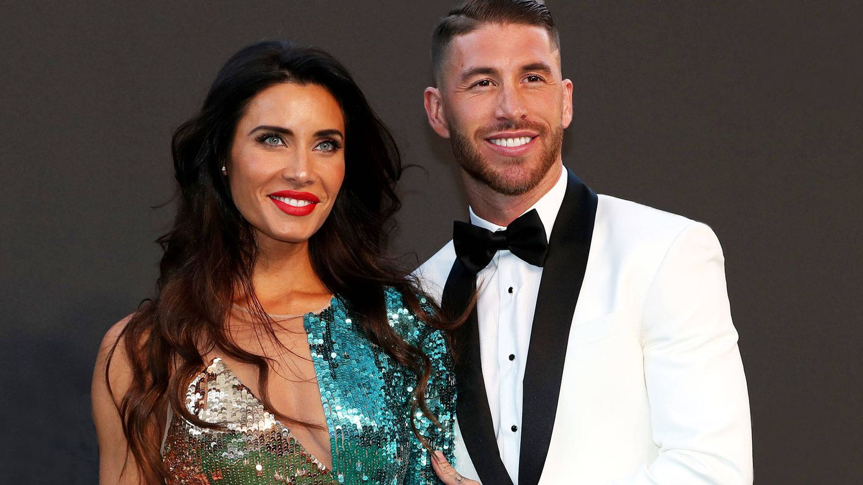 Pilar Rubio y Sergio Ramos, en una entrega de premios. (Getty)