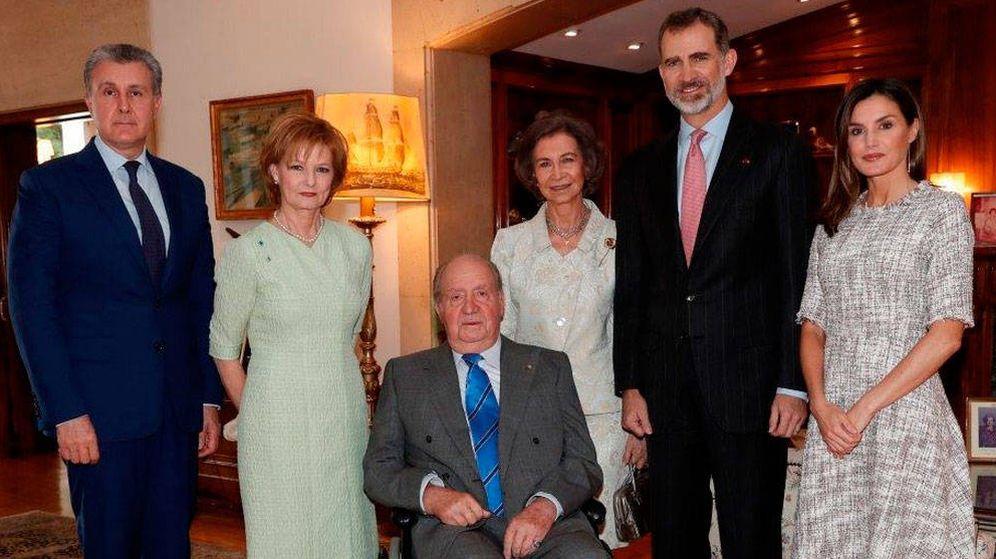 Foto: Los cuatro Reyes con Margarita y Radu de Rumanía. (Casa Real)