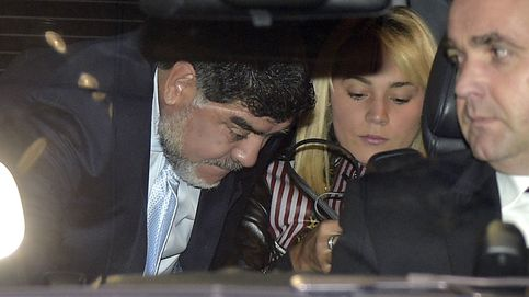 Maradona acude al Bernabéu con su novia tras su polémica pelea en un hotel de Madrid