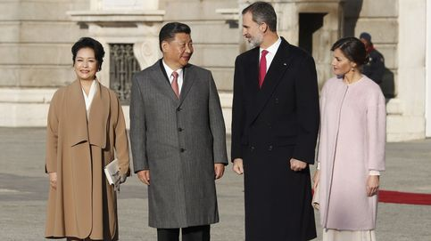 El presidente de China y la primera dama visitan España