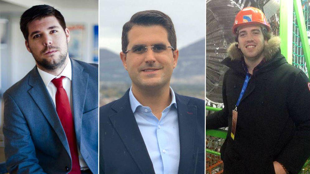 Foto: Ignacio (sector financiero), Alfonso (industria) y Pepe (ingeniería).