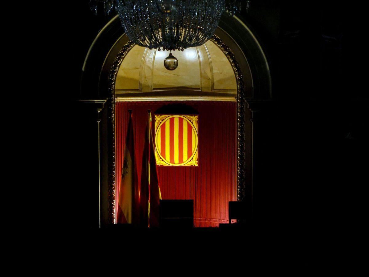 Aspecto del hemiciclo del Parlament de Cataluña. (EFE)