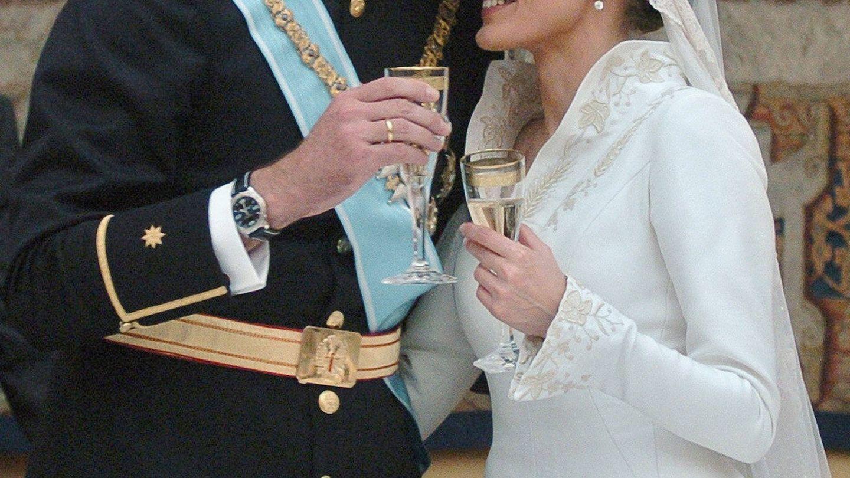 Detalle del sutil contouring de la reina Letizia. (Getty)