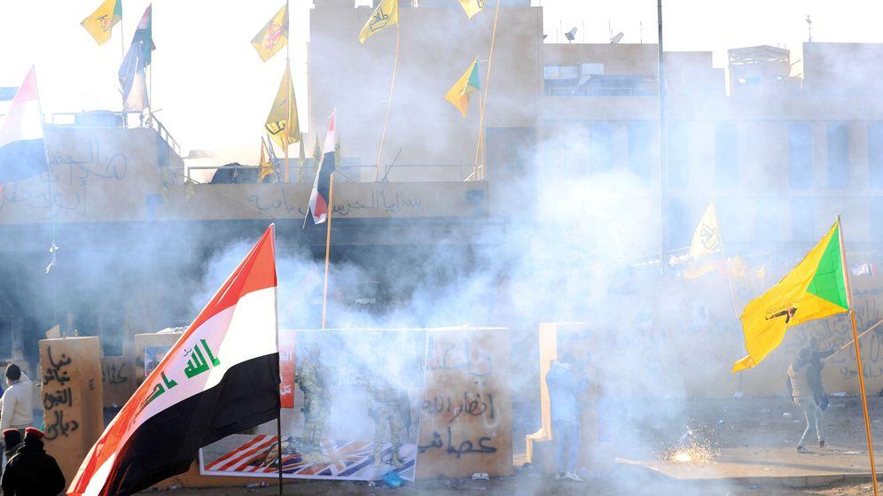 Foto: Protestas frente a la embajada de EEUU en Irak (Reuters)