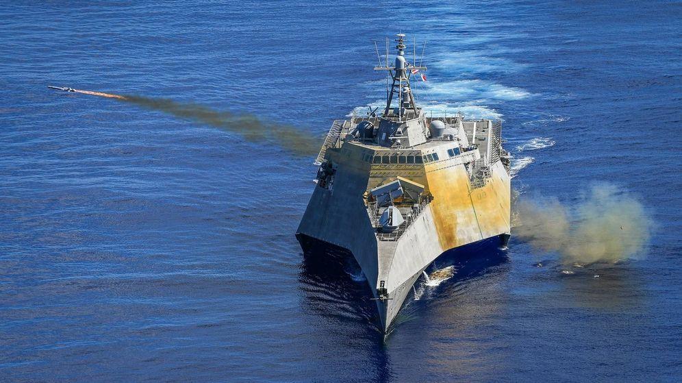 Foto: USS Gabrielle Giffords (LCS 10) lanzando un Naval Strike Missile (NSM) (US NAVY)