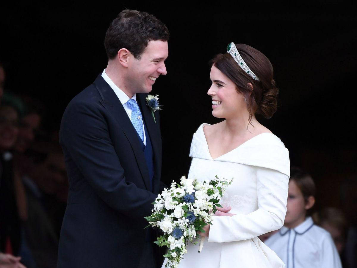 Foto: Eugenia y Jack, el día de su boda. (EFE)