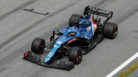Alonso (5º) y Alpine siguen de dulce: Bottas, protagonista de un insólito trompo en boxes