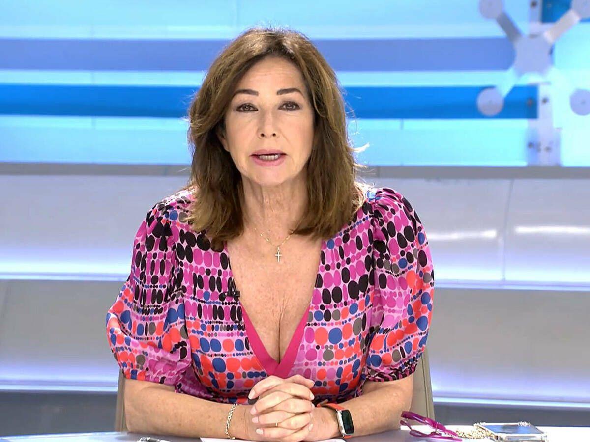 Foto: Ana Rosa Quintana, en su programa. (Mediaset)