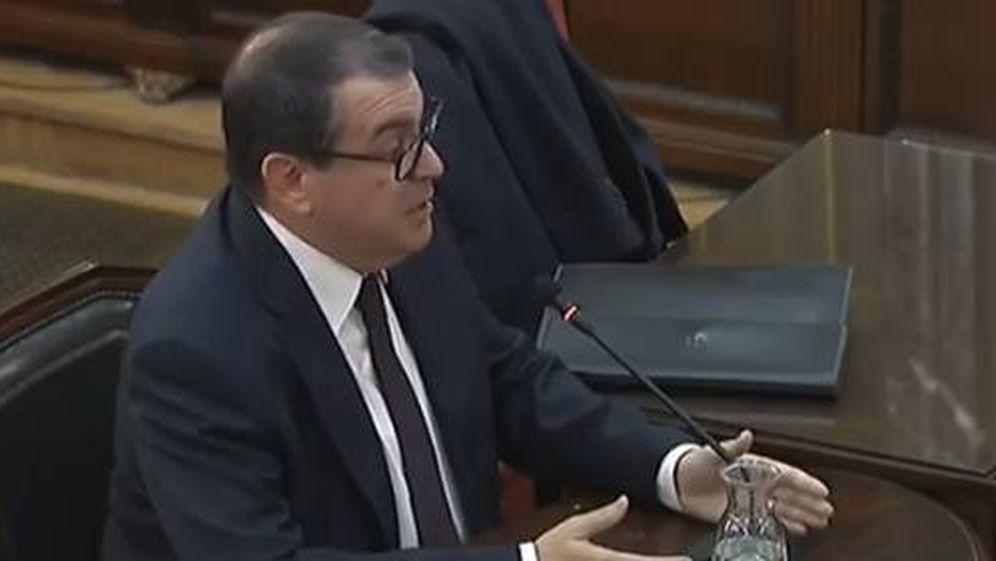 Foto: El 'exconseller' de Interior, Jordi Jané, en su declaración ante el Tribunal Supremo