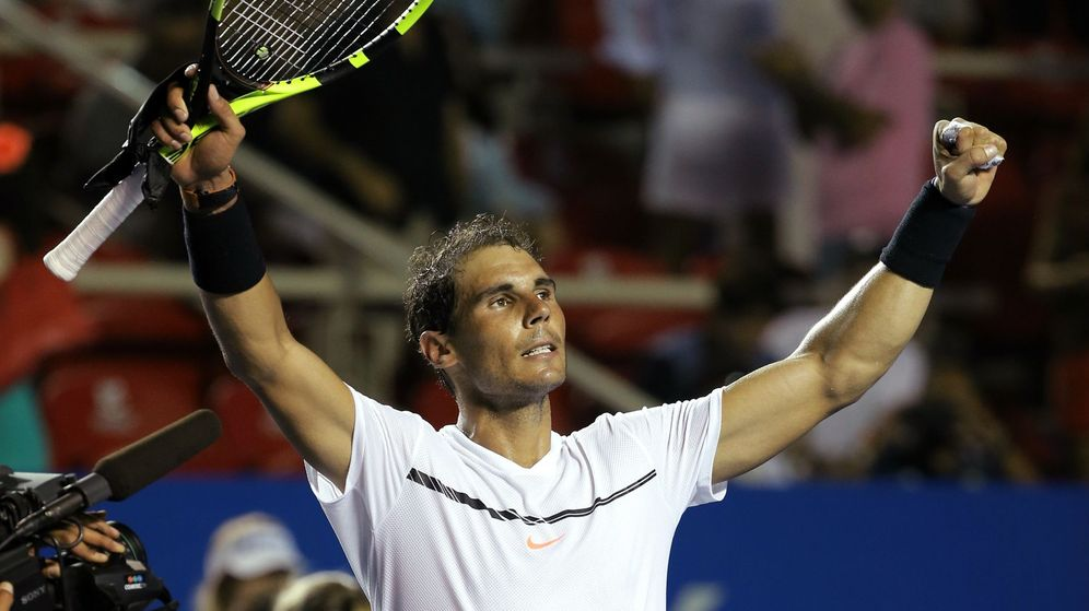 Foto: El español Rafael Nadal celebra tras vencer al japonés Yoshihito Nishioka. (EFE)