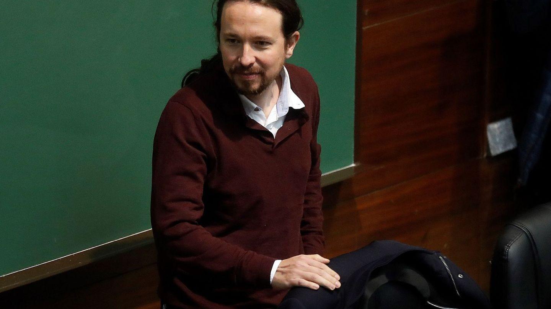 Pablo Iglesias, en una charla de la Universidad Complutense. (EFE)