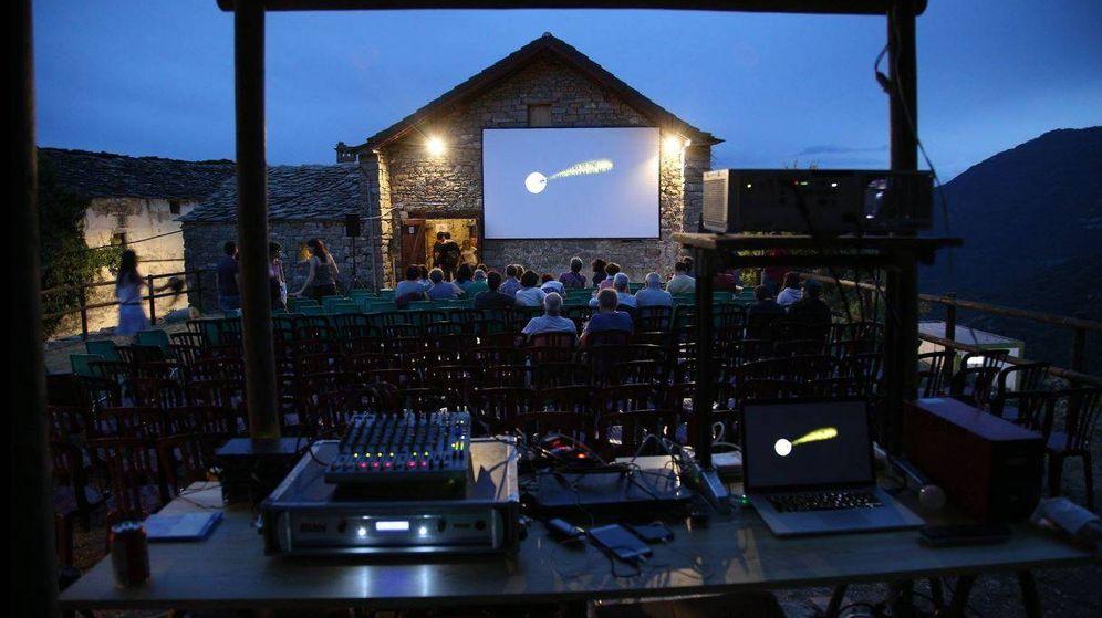 Foto: La Muestra de Cine más Pequeña del Mundo se celebra en Ascaso del 28 de agosto al 2 de septiembre. (Fografía cedida)