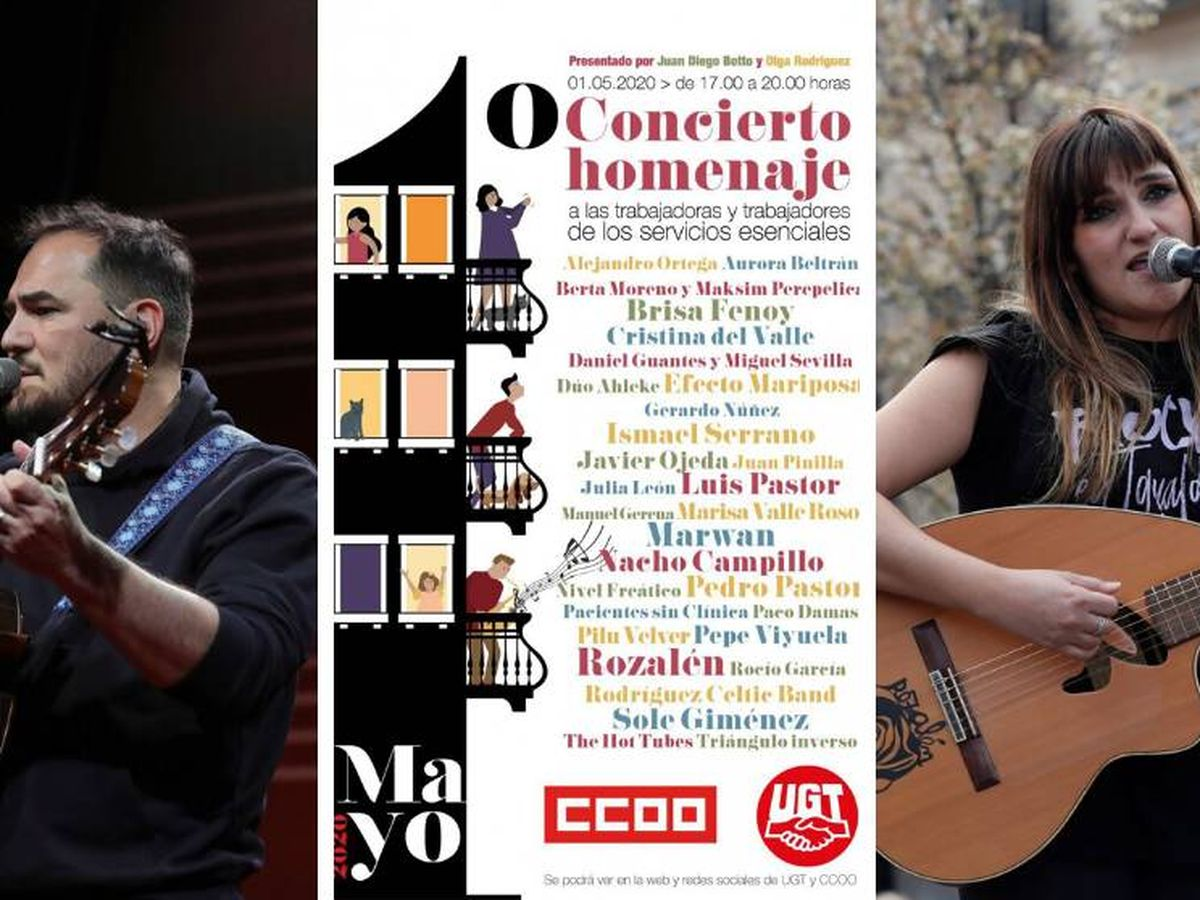 Foto: Concierto del Primero de Mayo en las redes sociales, convocado por CCOO y UGT