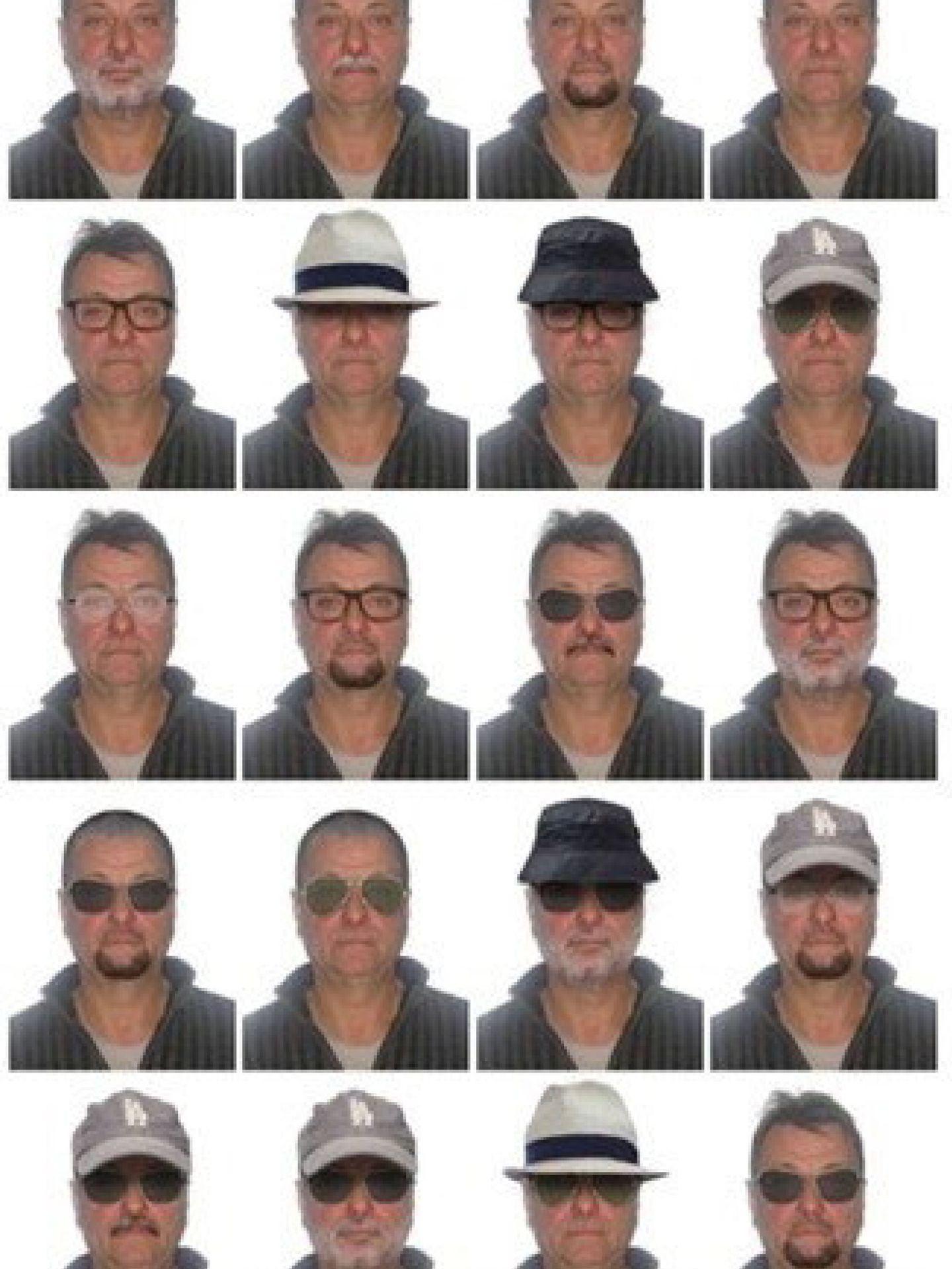 El retrato robor de Battisti que había difundido la Interpol. (EFE)