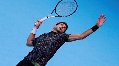 El serbio Novak Djokovic, en plena acción