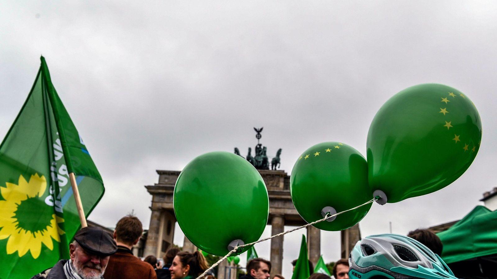 Foto: Simpatizantes del partido Verde en Berlín. (EFE)