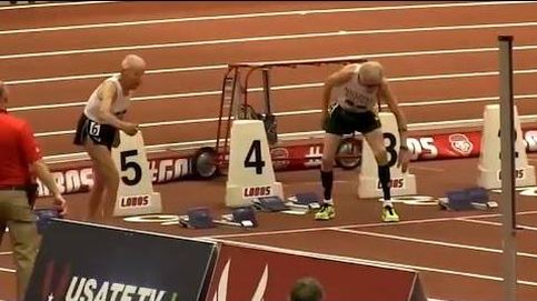 El emocionante esprint que incluso necesitó de la 'foto-finish' en los 60 metros para mayores de 90 años