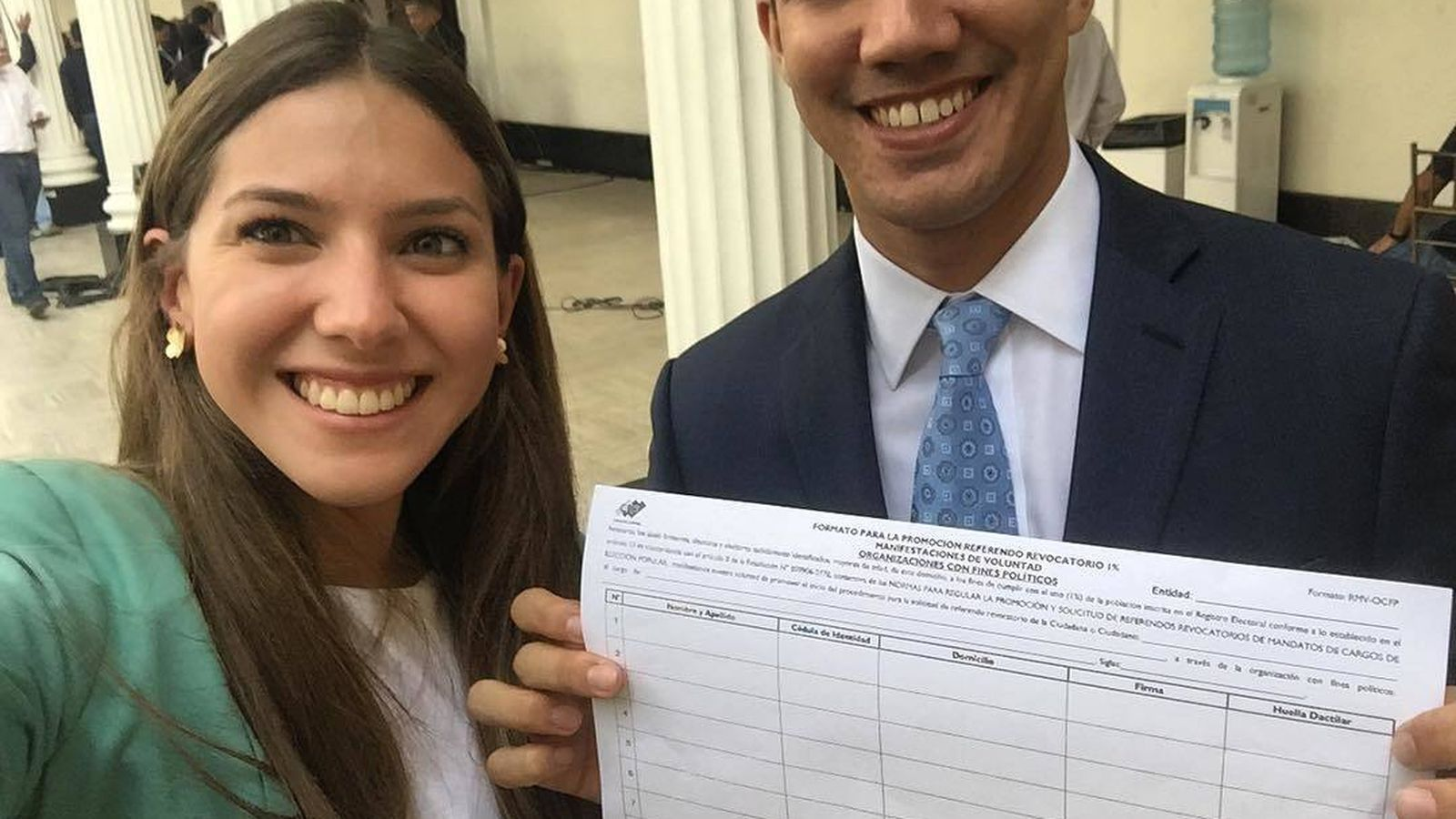 Foto: Fabiana junto a su marido, Juan Guaidó. (Instagram)