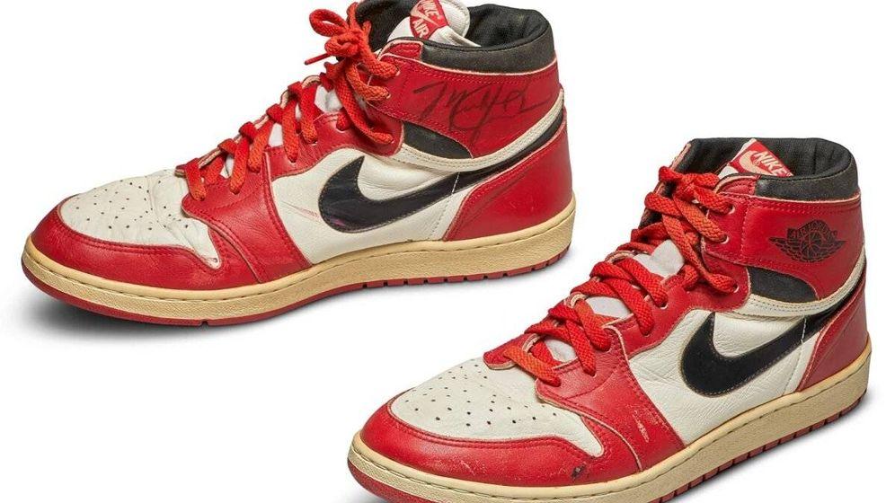 Foto: Las Nike Air Jordan, subastadas. Foto: Sotheby's