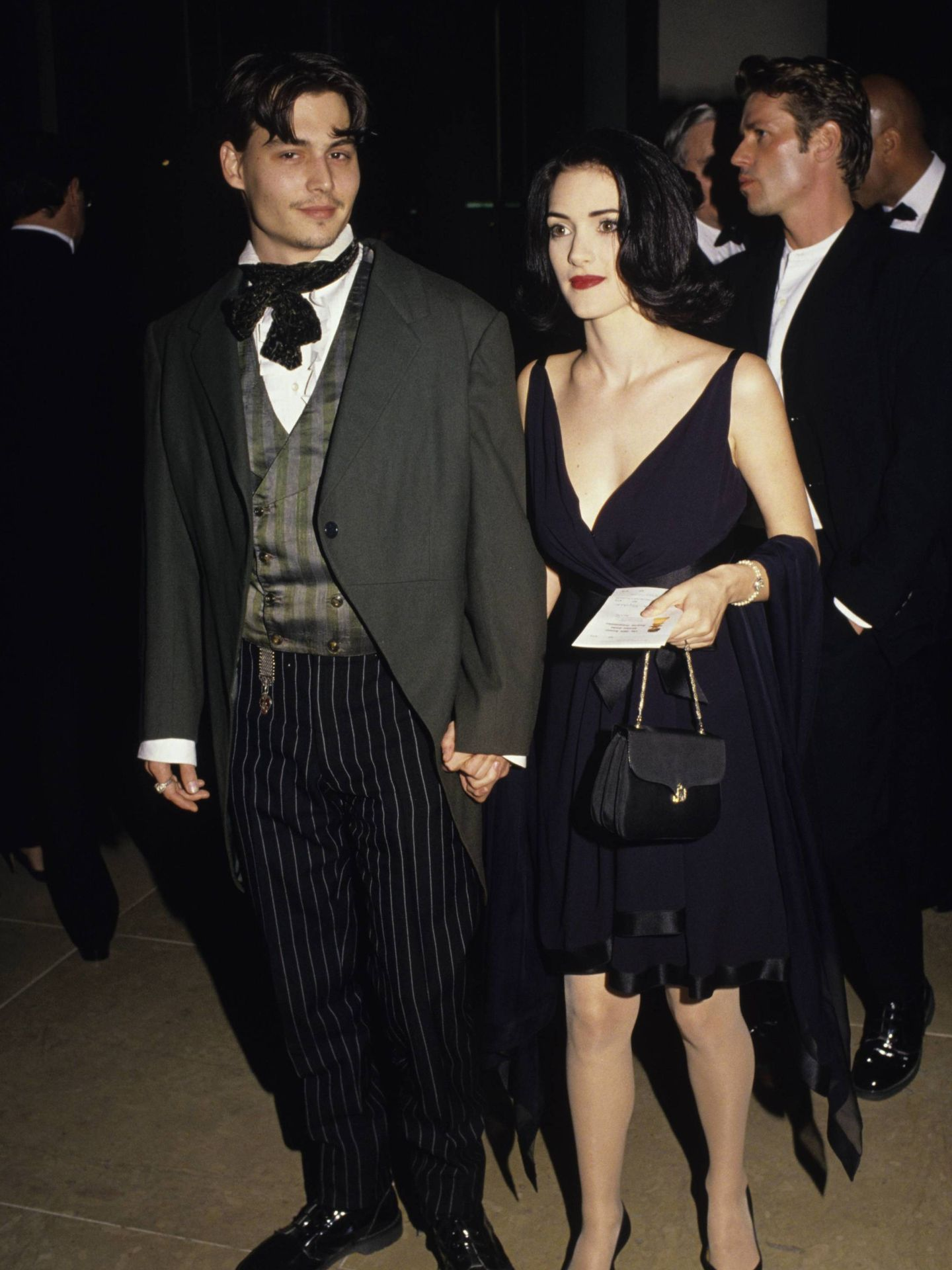 Los actores, en una imagen de 1991. (CP)