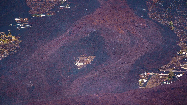 Zona arrasada por el volcán (EFE).