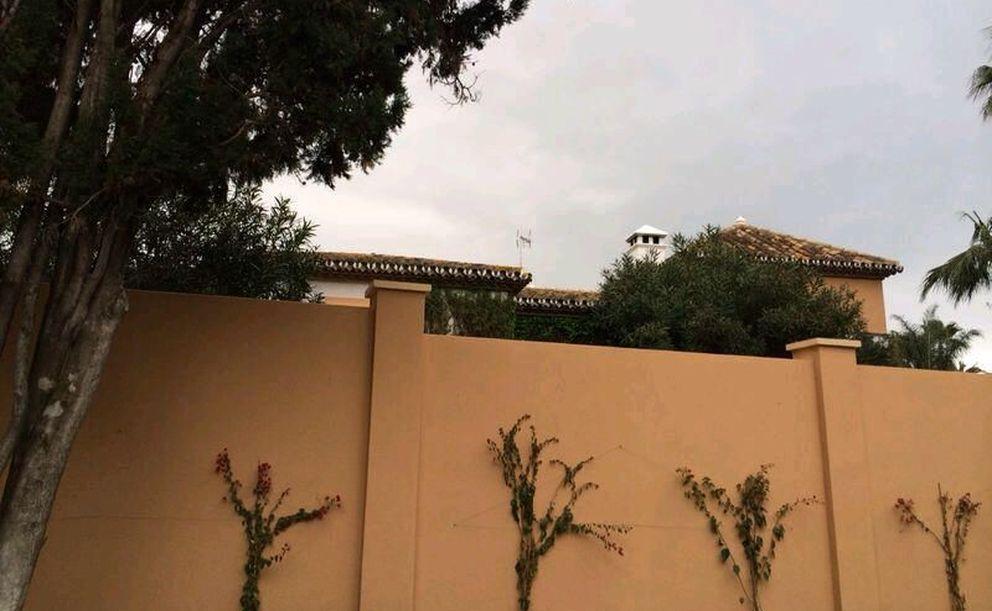 Imagen del muro de la nueva vivienda de Aznar (I.C.)