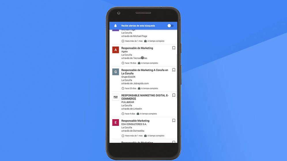 Foto: Así se verá el nuevo Google for Jobs en tu móvil