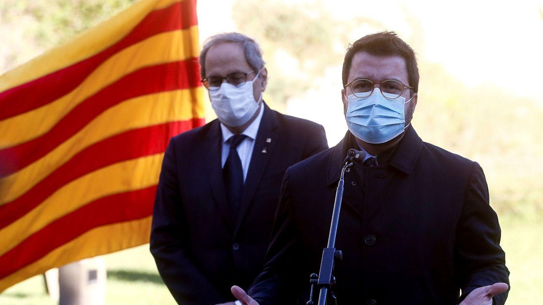 Foto: Pere Aragonès, junto a Quin Torra. (EFE)
