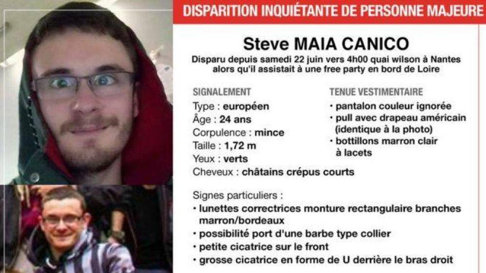 Foto: Cartel de búsqueda de Steve Maia Caniço