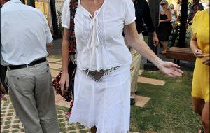Sarah Ferguson planta al Salón del Caballo de Sevilla