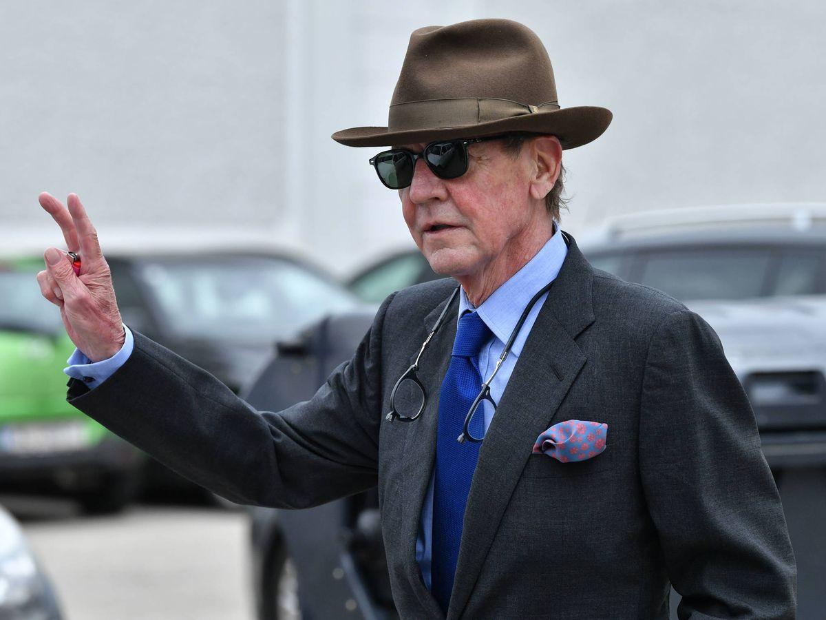 Foto: Ernesto de Hannover, tras salir del juzgado. (Getty)