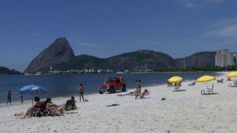 Las abarrotadas playas de Río de Janeiro se vacían ante la llegada del coronavirus