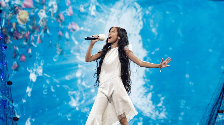 Melani García, en Eurovisión Junior 2019. (TVE)